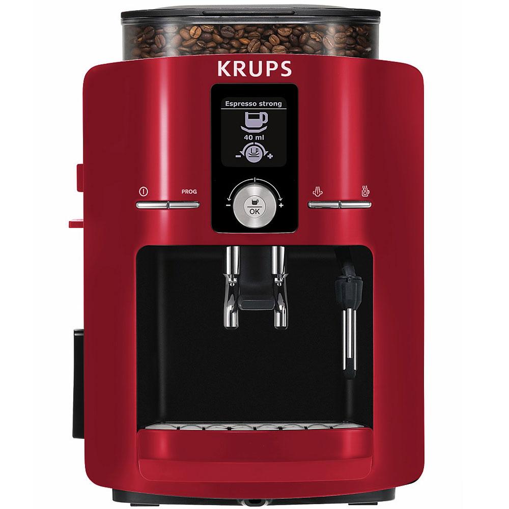 Krups Espresseria Automatic Espresso Machine Red
