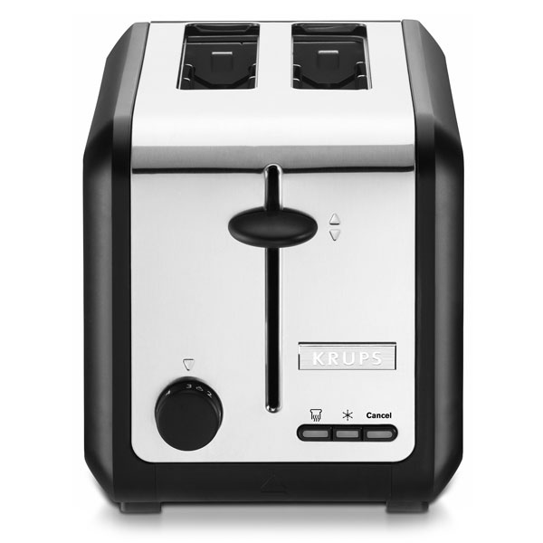 Krups Black & Stainless Steel Toaster, 2-slice