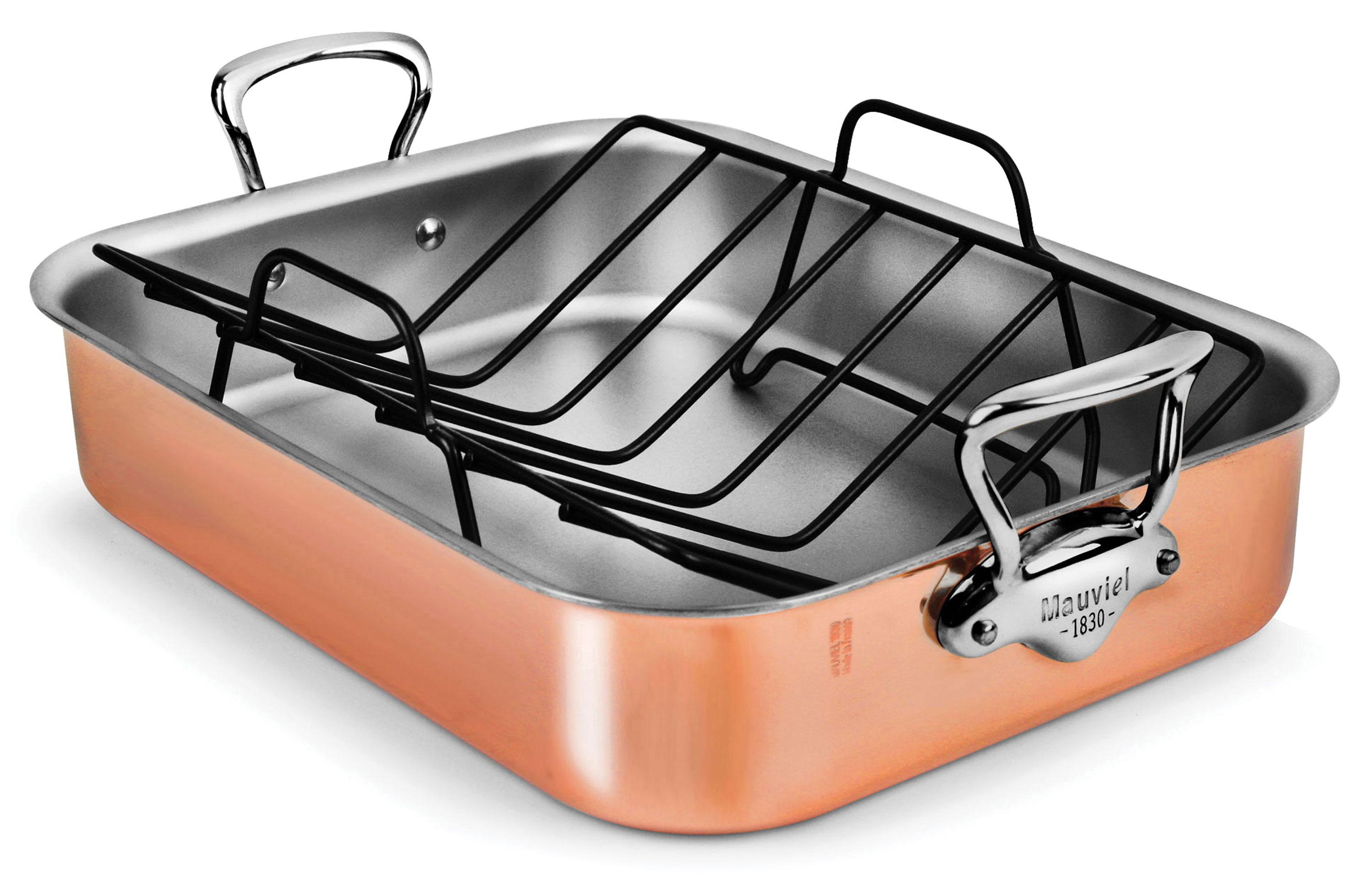 Mauviel Copper Roasting Pan With Stainless Steel Handles