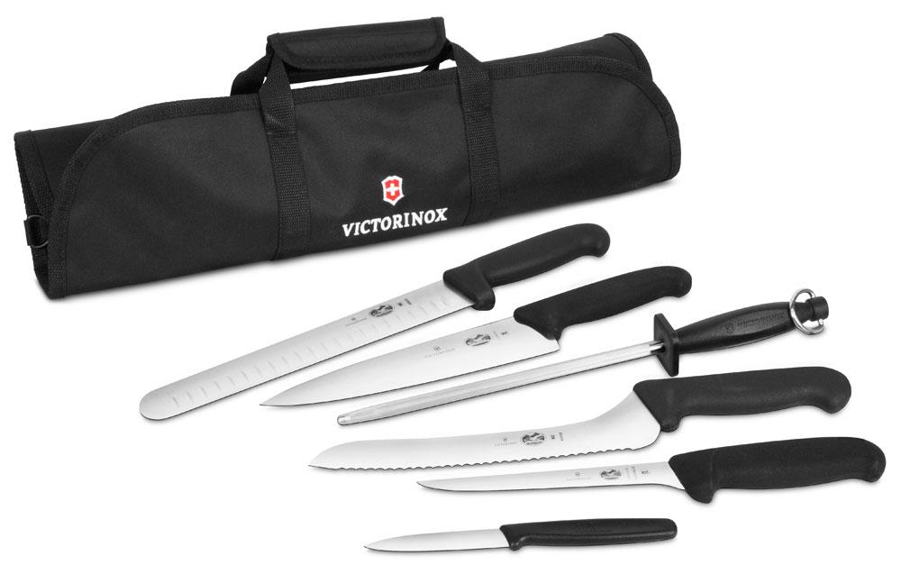 Victorinox Fibrox Culinary Knife Roll Set 7 Piece
