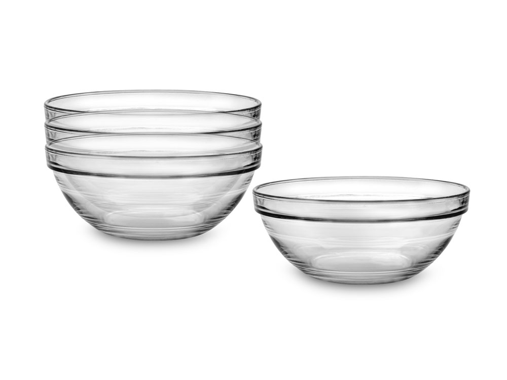 Duralex Lys 2 Ounce Nesting Glass Prep Bowl Set 4 Piece