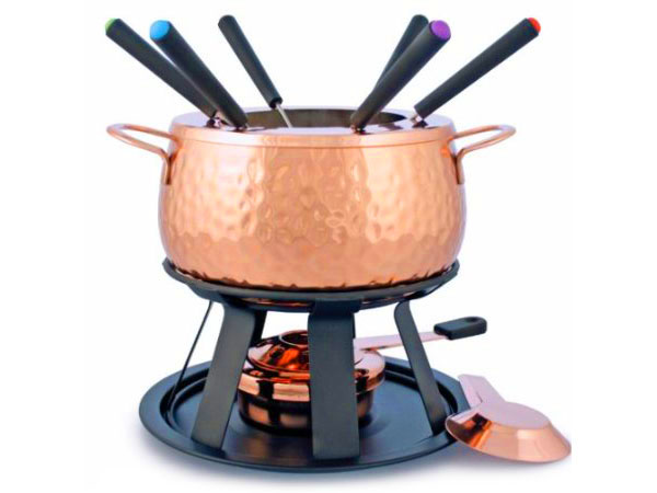 copper fondue set on sale cutlery and more. Black Bedroom Furniture Sets. Home Design Ideas