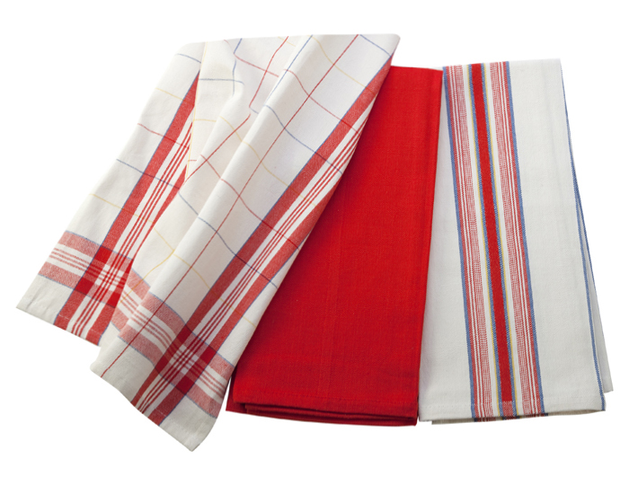 Le Creuset Kitchen Towel Set, 3-piece Cherry Red