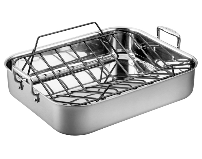 Le Creuset Stainless Steel Roasting Pan With Rack 17x13