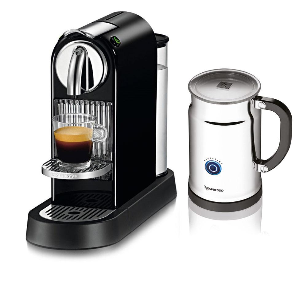 Nespresso citiz espresso maker with aeroccino plus milk for Small apartment coffee maker
