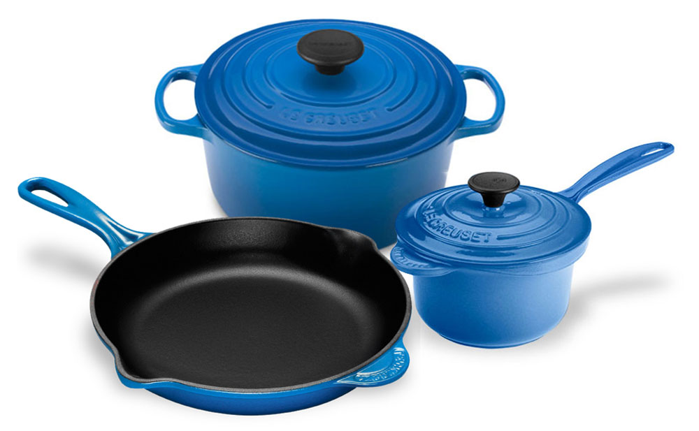Le Creuset Cast Iron Signature Cookware Set 5 Piece