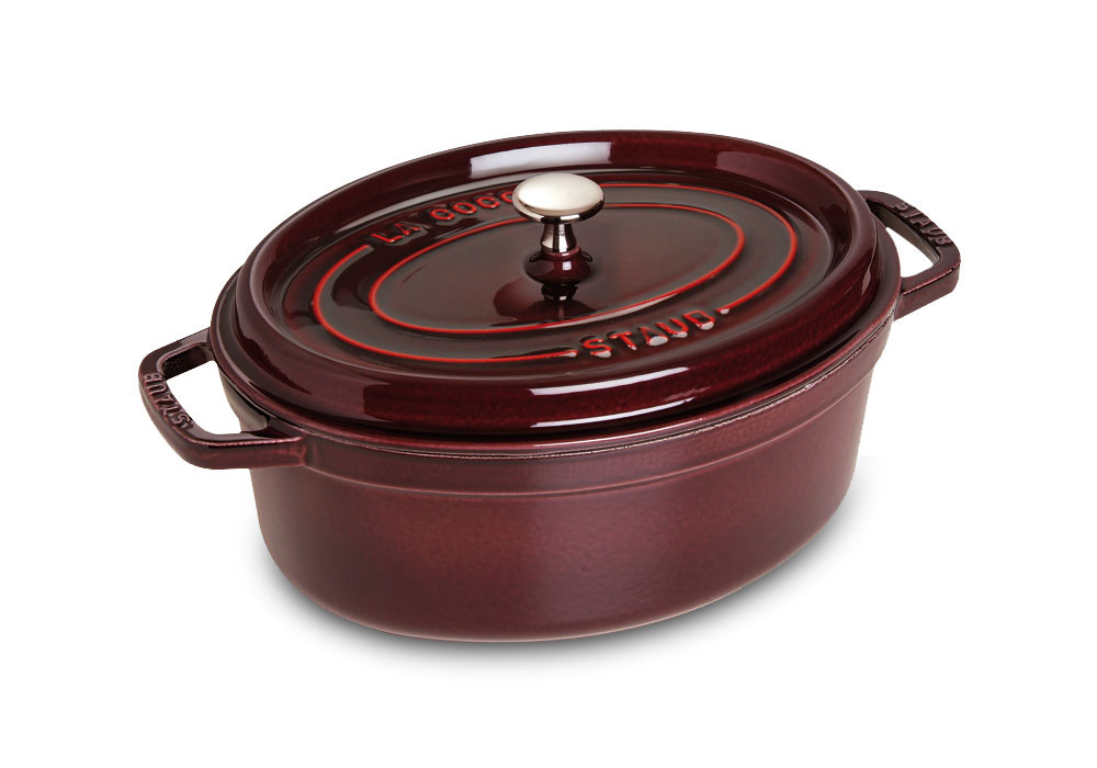 Staub Oval Dutch Oven 2 5 Quart Grenadine Cutlery And More