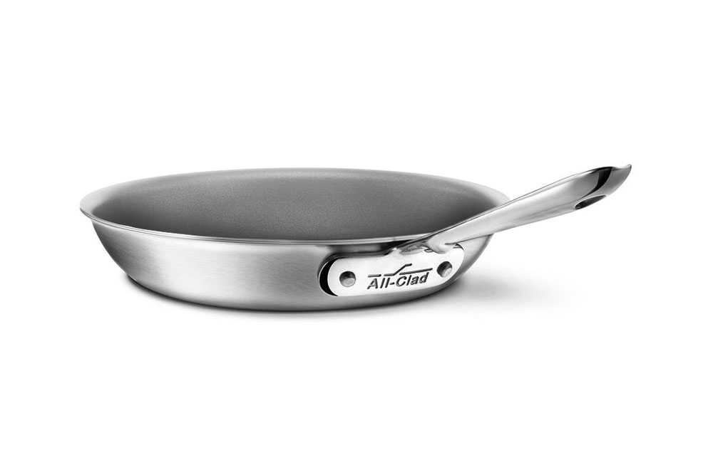 All Clad D5 Brushed Stainless Nonstick Fry Pan 8 Inch