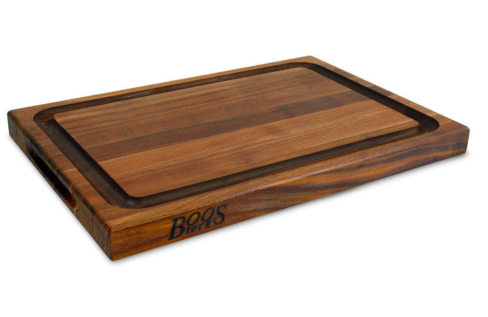 John Boos Walnut Cutting Board With Groove 24x18x1 5