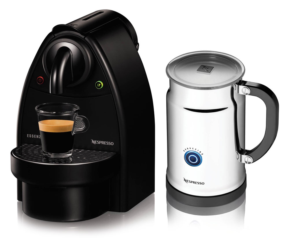 Milk Coffee Maker ~ Nespresso essenza c espresso maker aeroccino plus milk