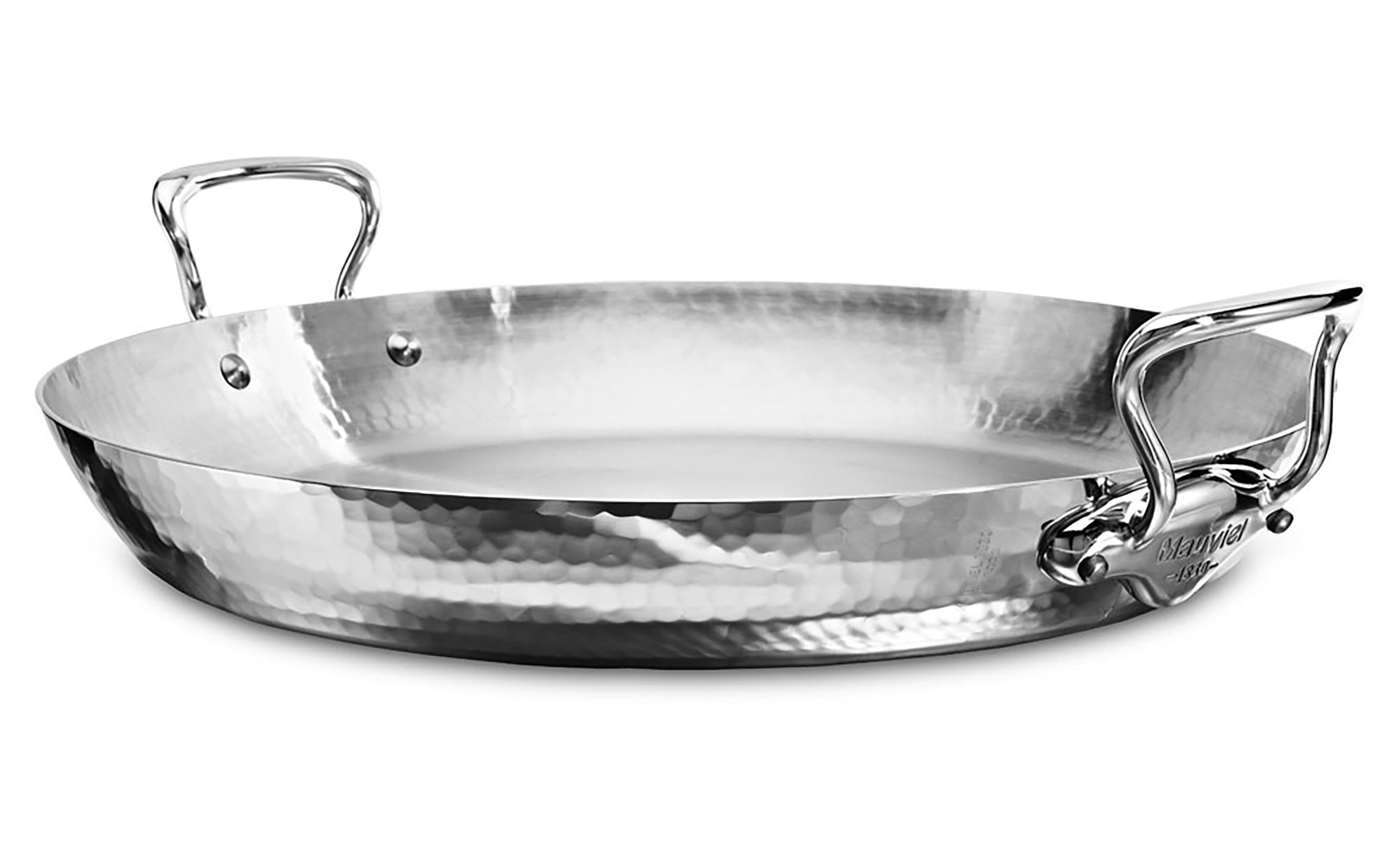 mauviel mu0027elite hammered stainless steel paella pan 157inch cutlery and more - Mauviel