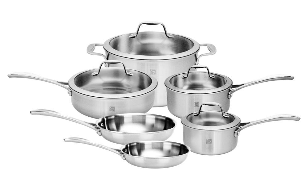 Zwilling J A Henckels Spirit Stainless Cookware Set 10