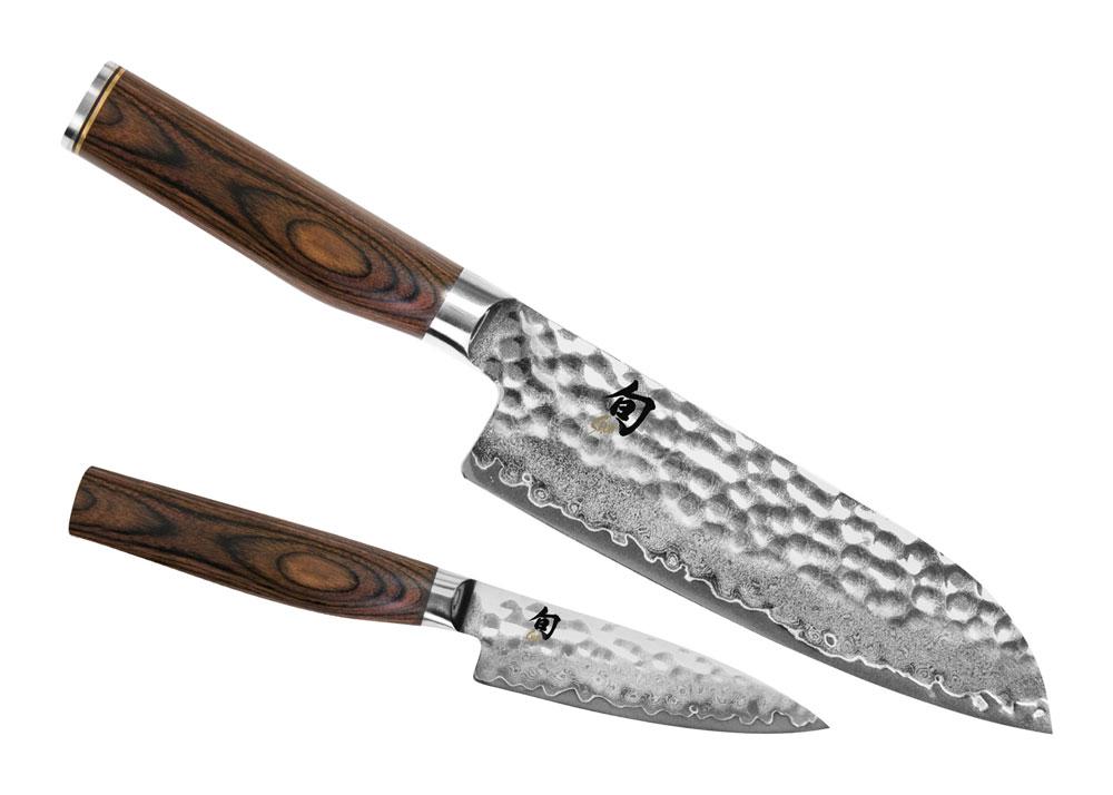 Shun Premier Santoku Knife Starter Set 2 Piece Cutlery