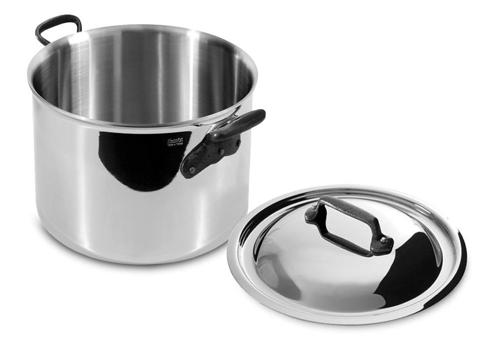 Mauviel M Cook 260c Stainless Steel Single Ply Stock Pot
