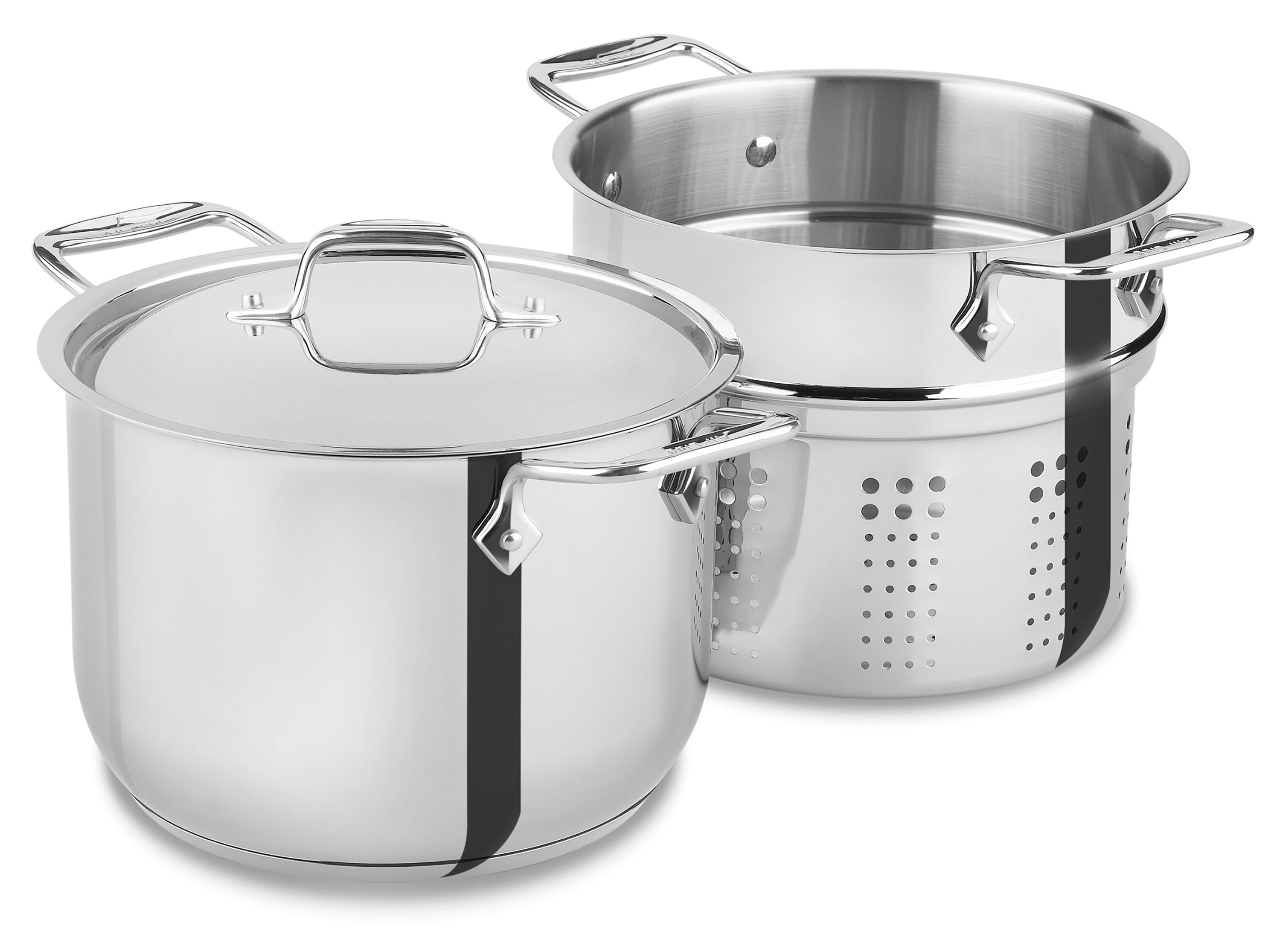All Clad Stainless Steel Pasta Pot 6 Quart Cutlery And More