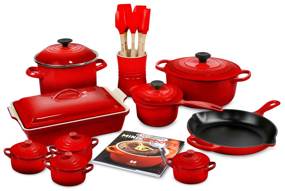 Le Creuset Signature Cast Iron Cookware Set 20 Piece
