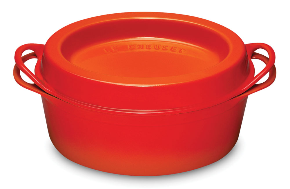 Le Creuset Cast Iron Oval Doufeu Oven, 6-quart Flame | Cutlery and More