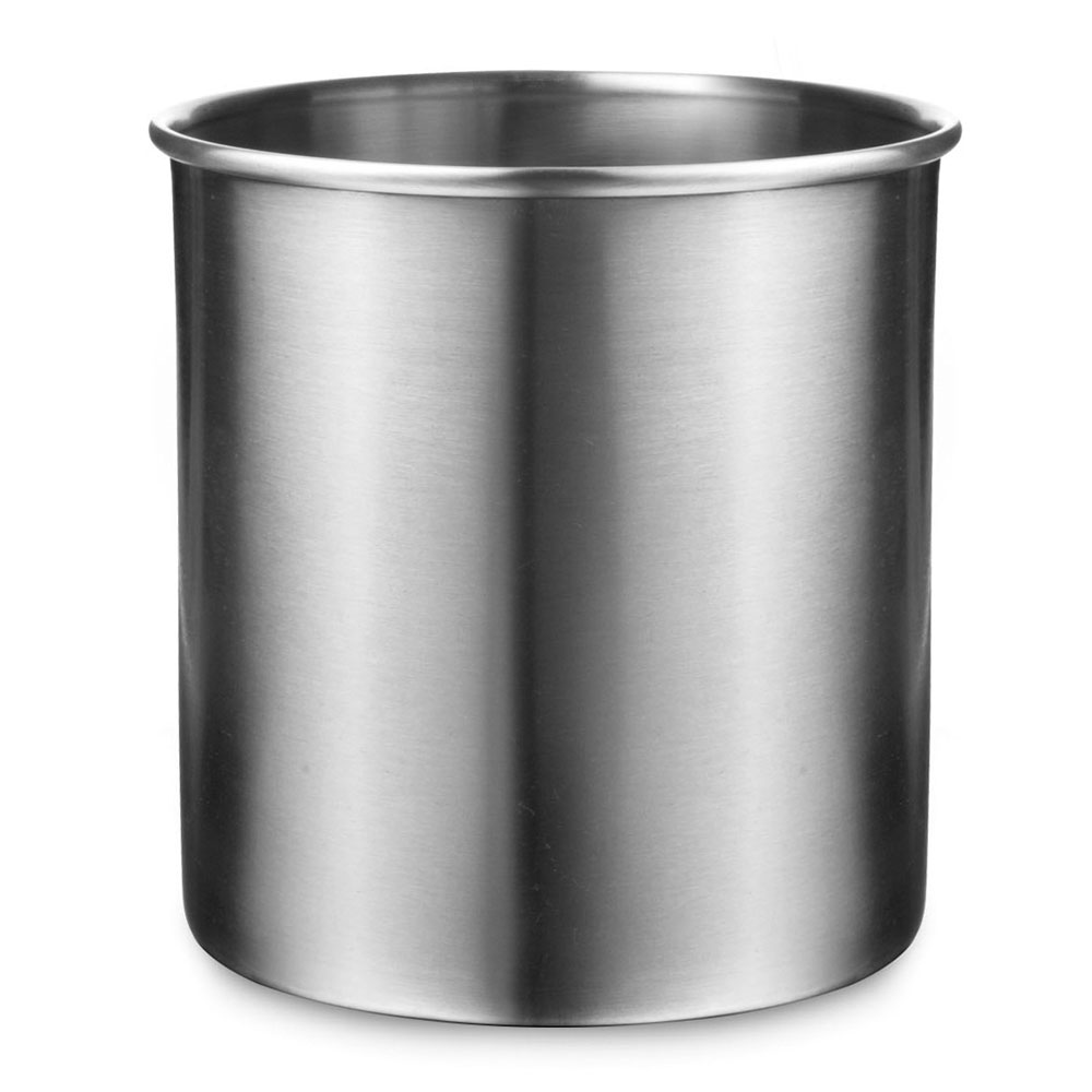Amco Large Brushed Stainless Steel Utensil Crock 4 Quart