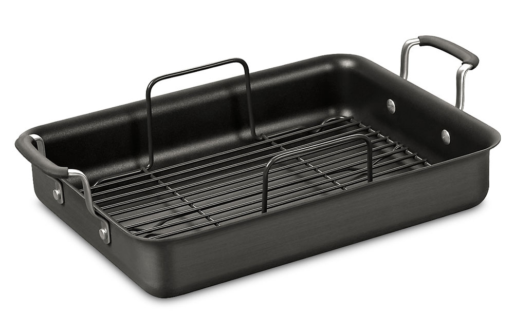 Calphalon Simply Nonstick Roasting Pan With Rack 14 Inch