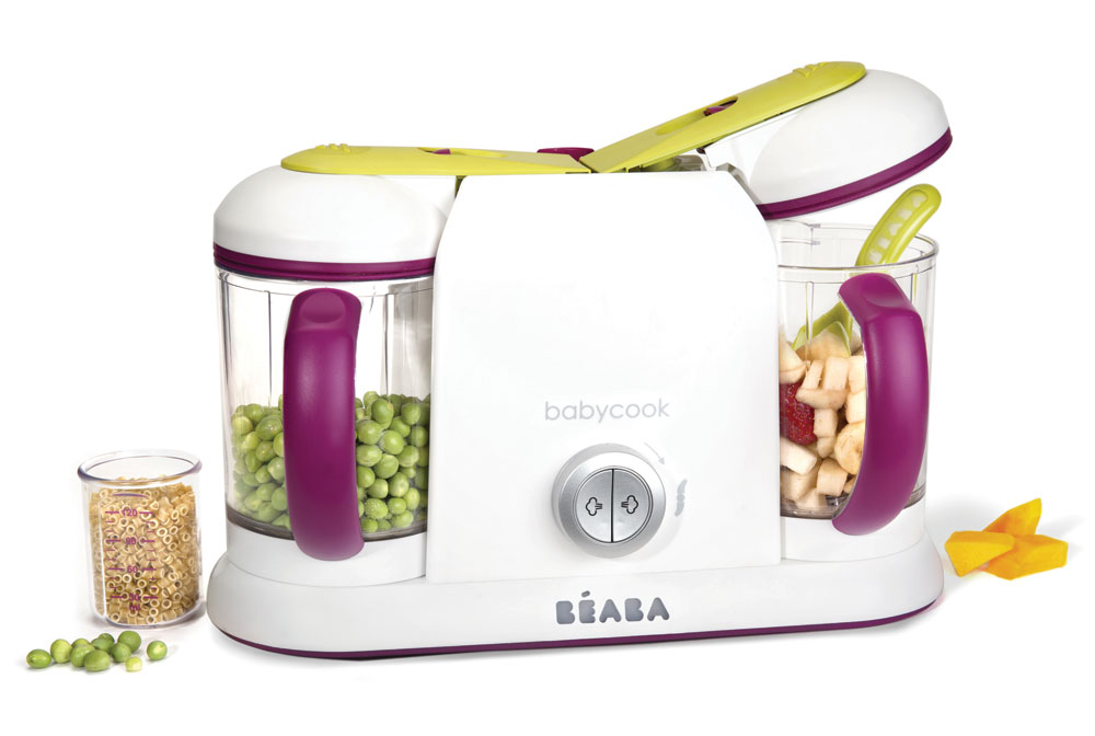 Beaba Babycook Pro 2x Baby Food Maker Gipsy Cutlery And