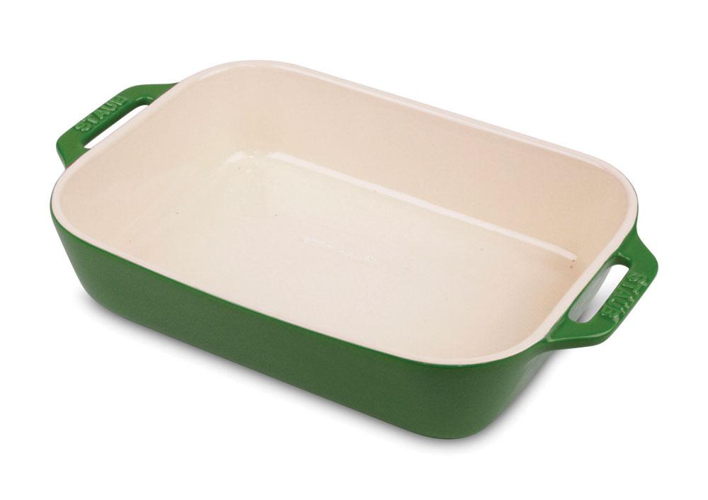 Staub Ceramic Rectangular Baking Dish 10 5x7 5 Quot Basil