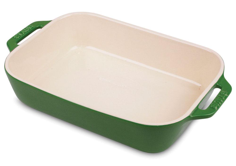 Staub Ceramic Rectangular Baking Dish 13x9 Quot Basil