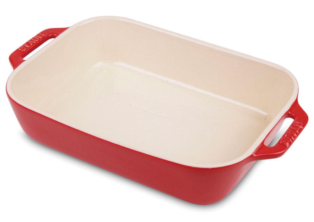 Staub Ceramic Rectangular Baking Dish 13 X 9 Inch Cherry