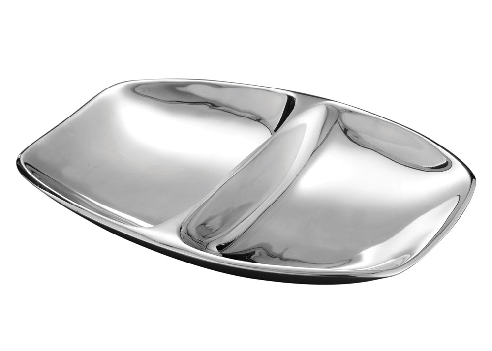 Nambe Marupa Divided Serving Tray 15 X 11 Inch Cutlery