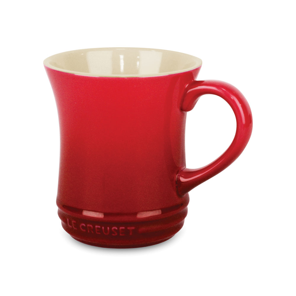 le creuset stoneware tea mug 14 ounce cherry red. Black Bedroom Furniture Sets. Home Design Ideas