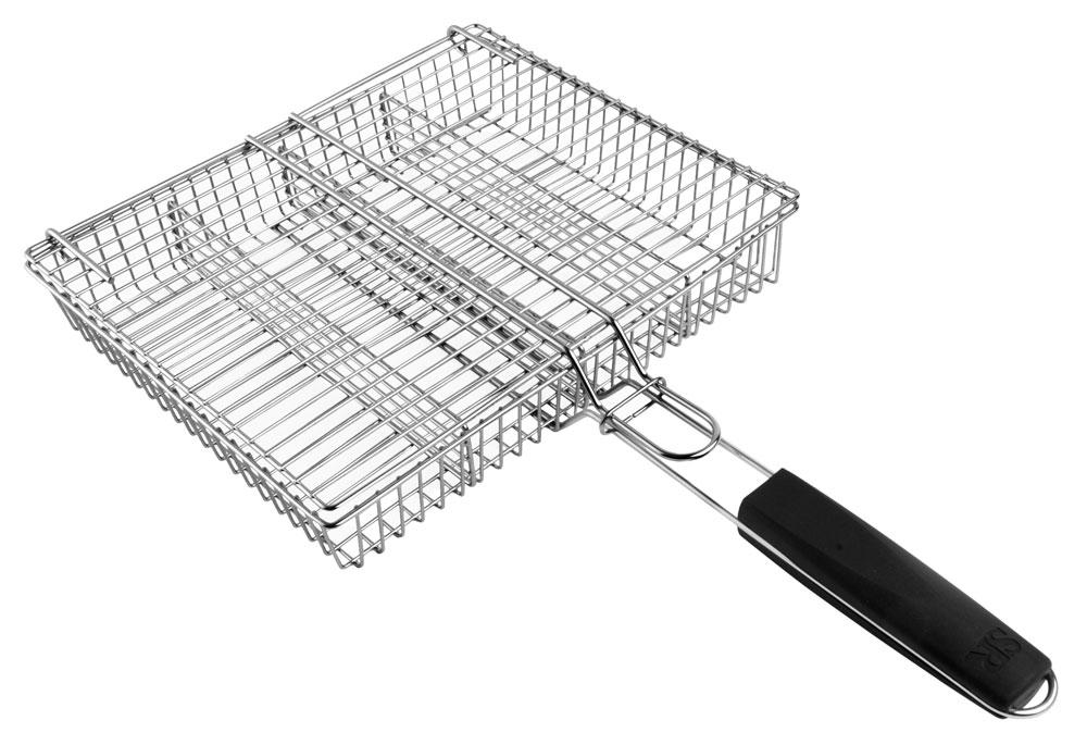 Steven Raichlen 4 Compartment Stainless Grilling Basket