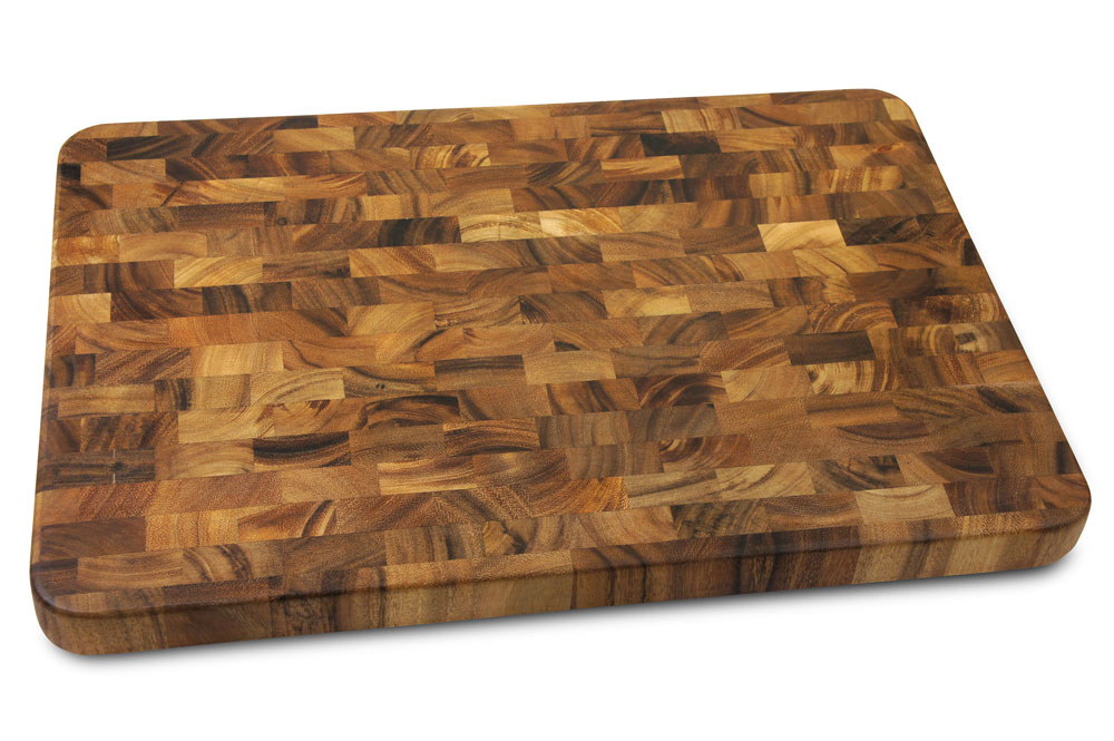 Acacia Cutting Board 20x14 Inch End Grain Butcher Block