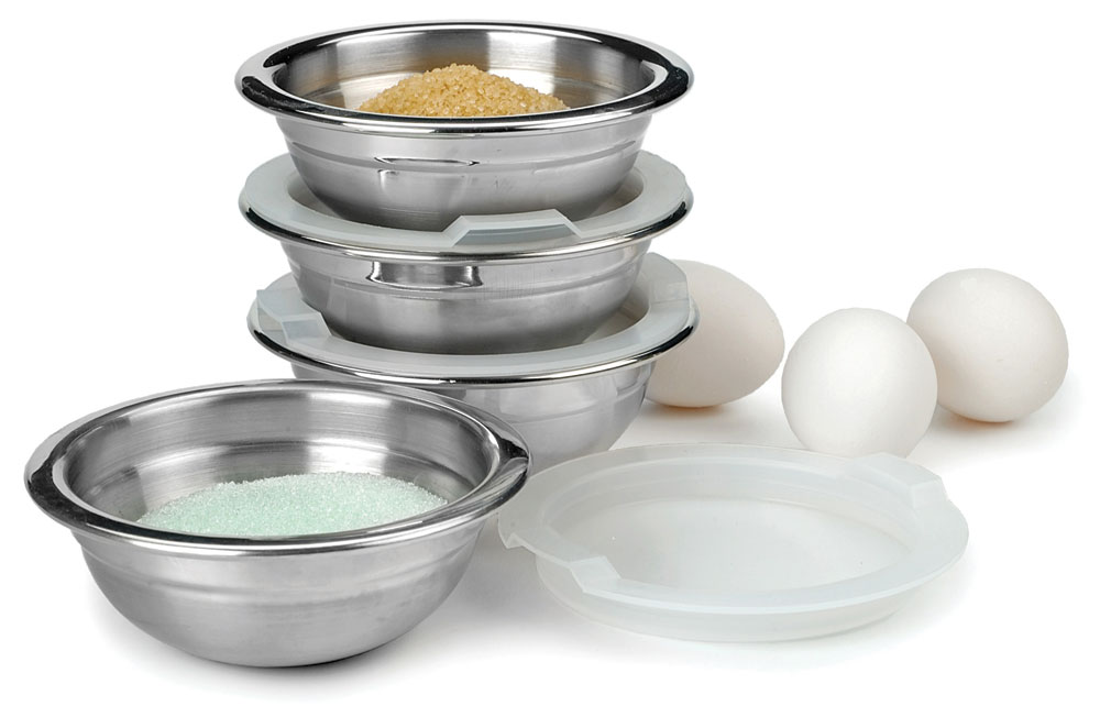 RSVP Endurance Stainless Steel Prep Bowl Set With Lids, 4 Piece | Cutlery  And More