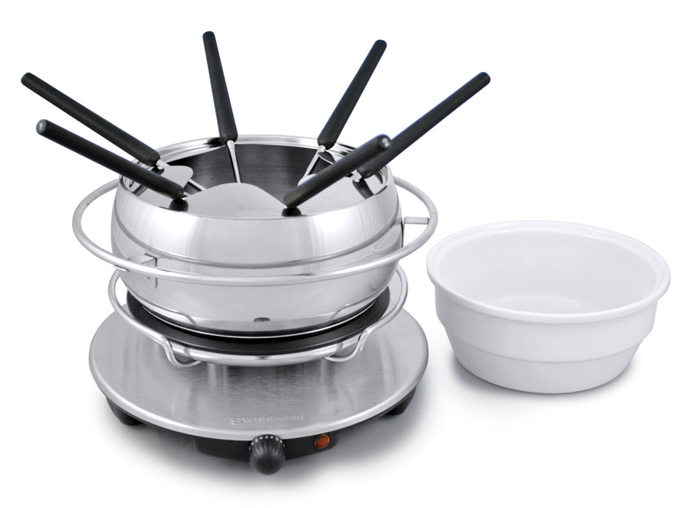 Swissmar Zurich Electric Fondue Set Cutlery And More
