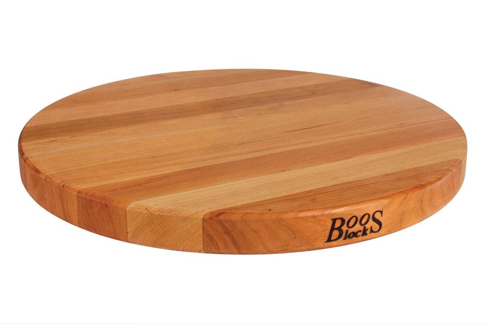John Boos Round Cutting Board 18 Inch Cherry Cutlery
