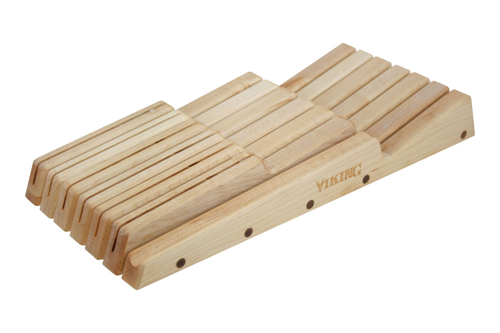 Viking Cutlery Maple In Drawer Knife Tray 12 Slot