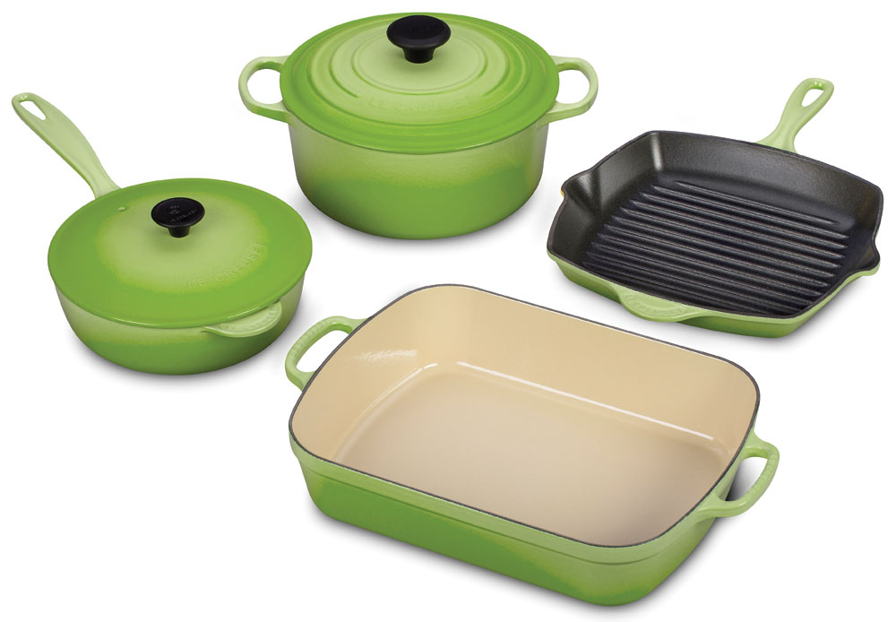 Le Creuset Signature Cast Iron Cookware Set 6 Piece Palm