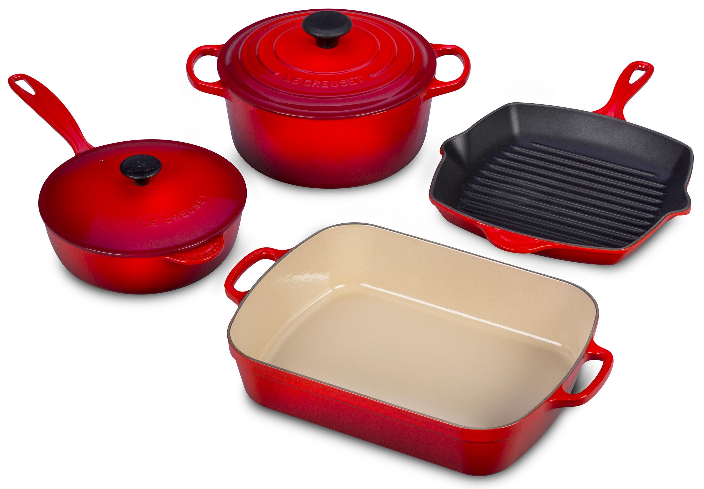 Le Creuset Signature Cast Iron Cookware Set 6 Piece