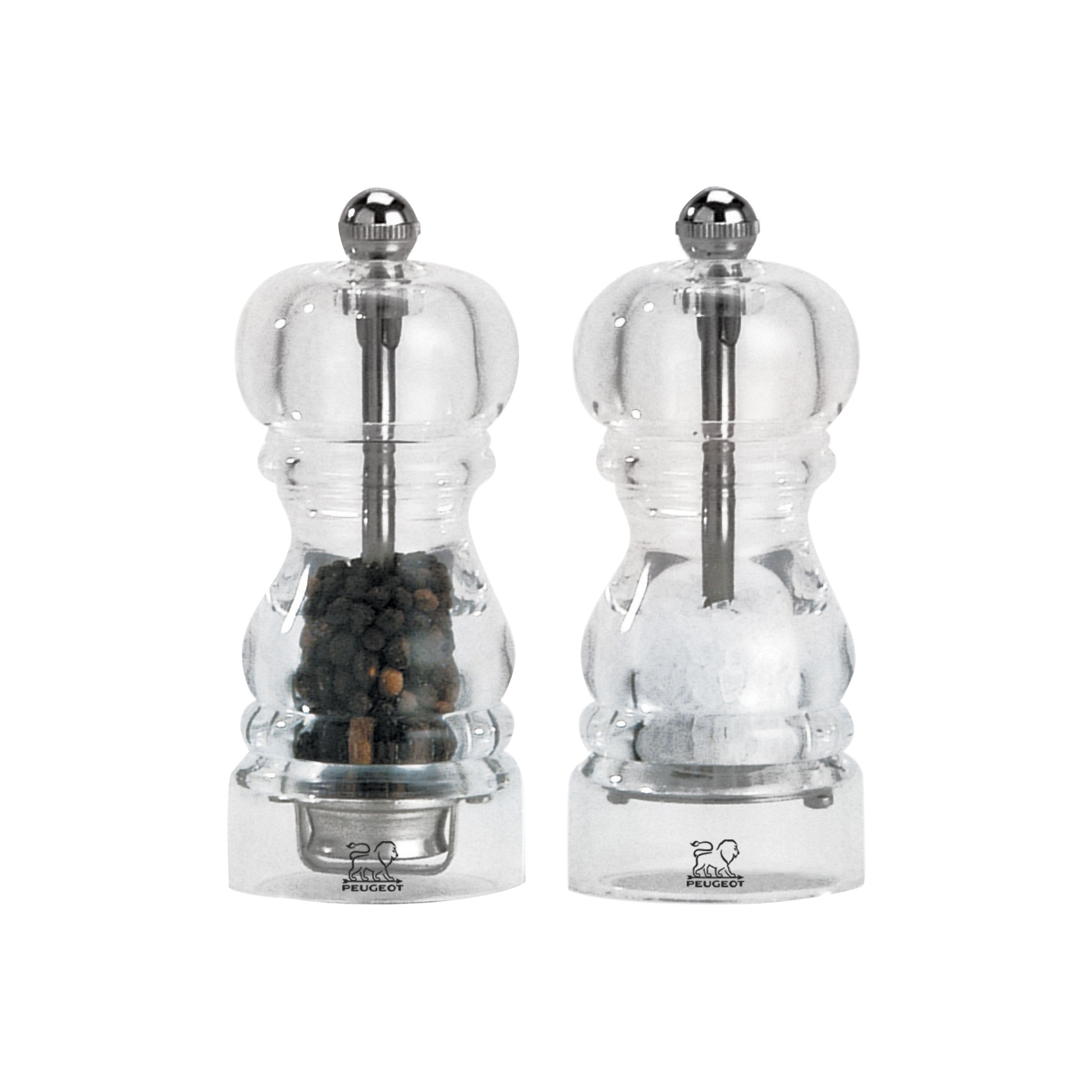 peugeot nancy acrylic salt pepper mill set cutlery and more. Black Bedroom Furniture Sets. Home Design Ideas