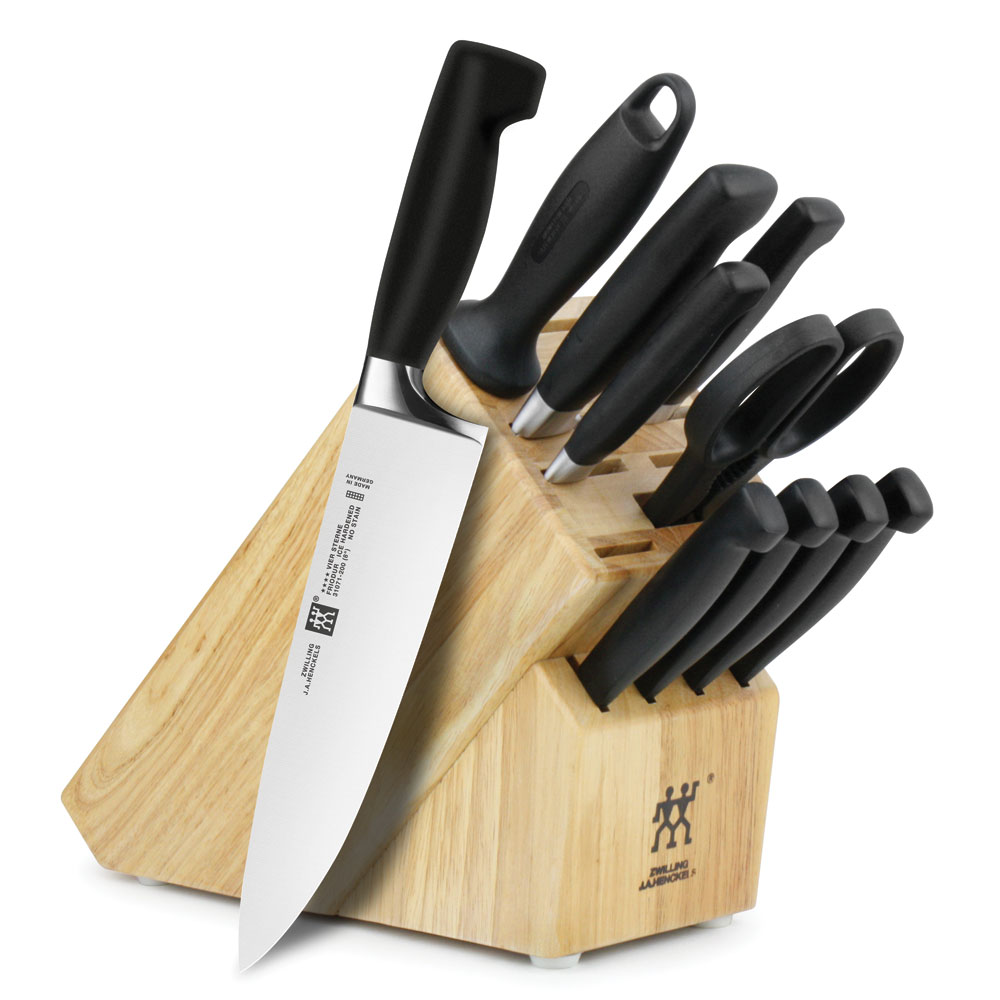 Zwilling J A Henckels Four Star Knife Block Set With