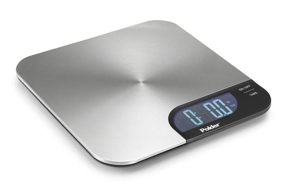 polder slimmer stainless steel digital kitchen scale 11 pound