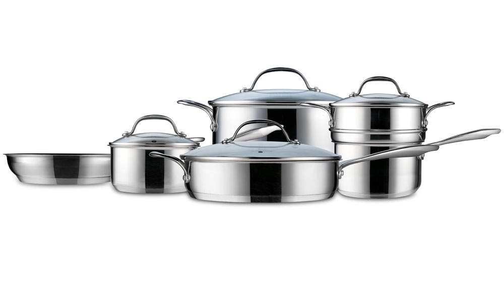 Curtis Stone Steelworks Stainless Steel Nonstick Cookware