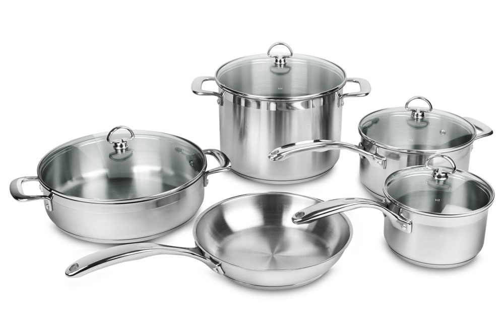 Chantal Induction 21 Steel Cookware Set 9 Piece Cutlery