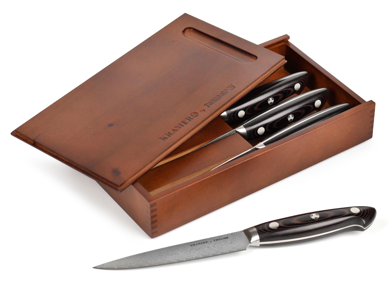Bob Kramer Steak Knives Damascus 4 Piece Knife Set With