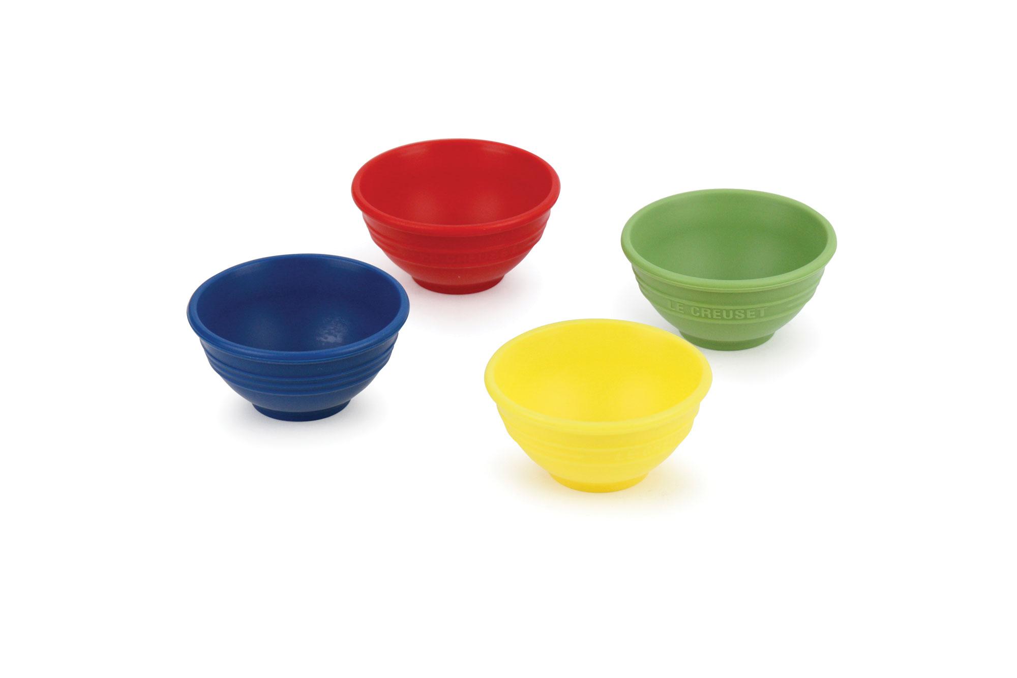 Le Creuset Silicone Pinch Bowl Set 4 Piece Multi Color