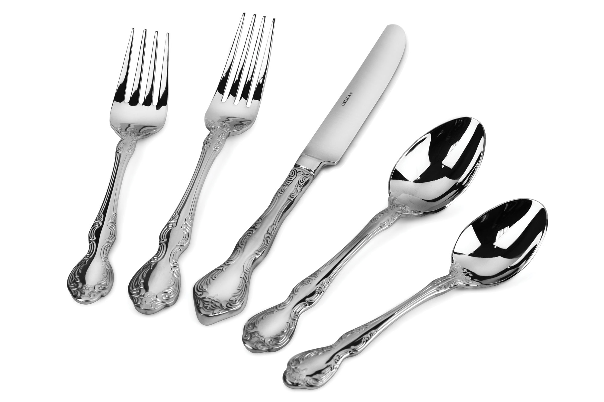 Oneida Mandolina Stainless Steel Flatware Set 65 Piece