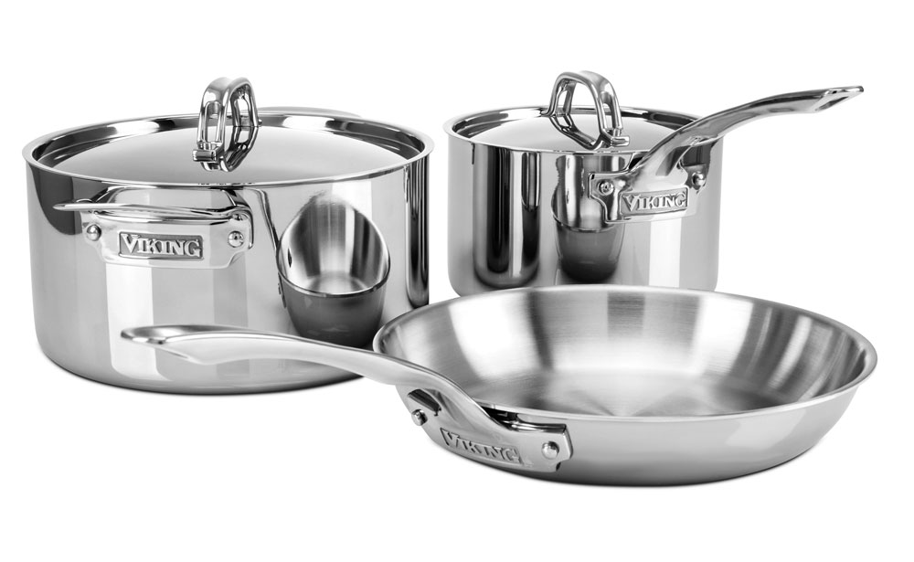 Viking 3 Ply Stainless Steel Cookware Set 5 Piece