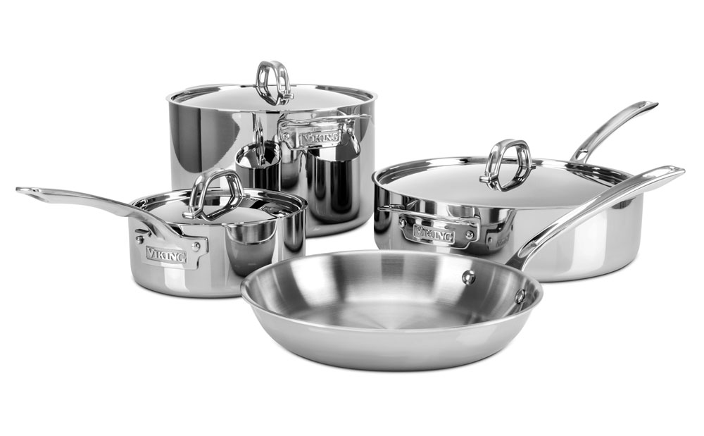 Viking 3 Ply Stainless Steel Cookware Set 7 Piece