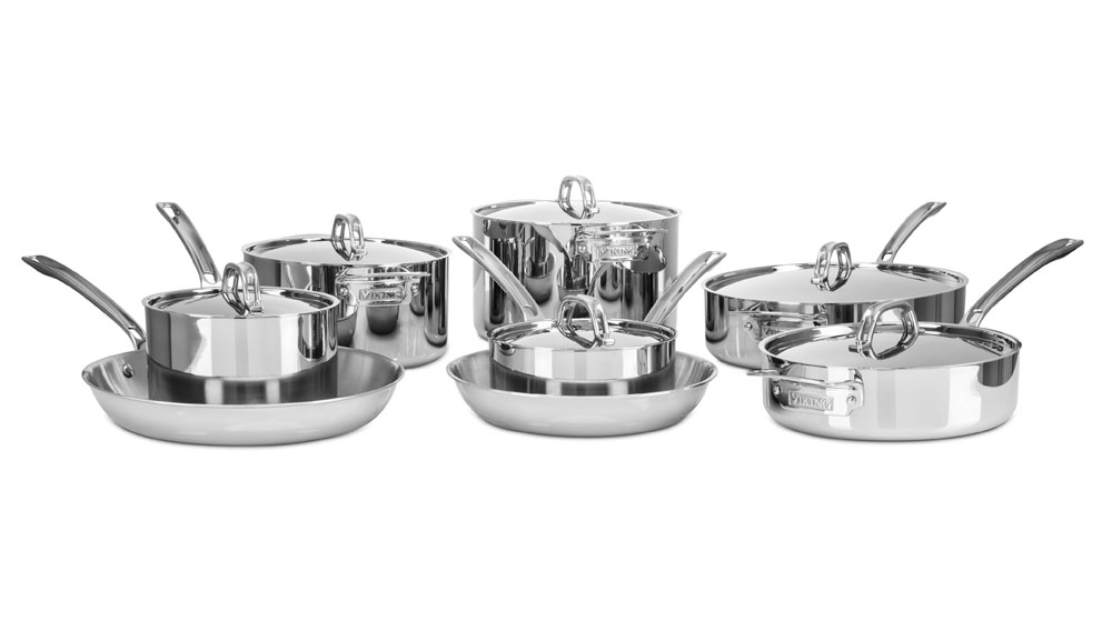 Viking 3 Ply Stainless Steel Cookware Set 14 Piece