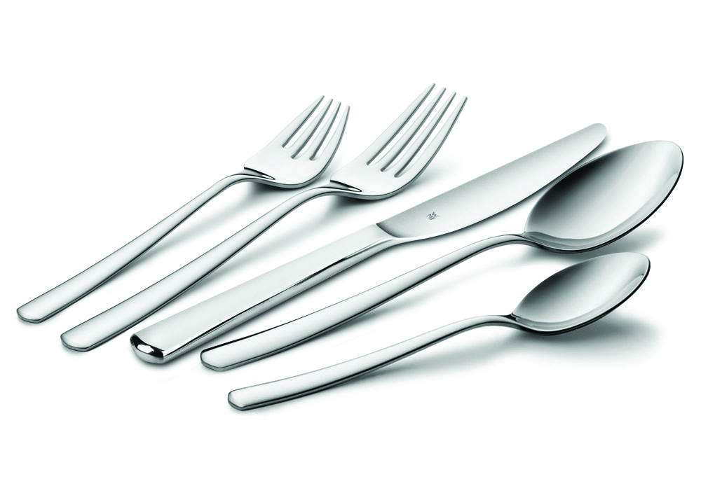 Wmf manaos stainless steel flatware serving set 120 piece cutlery and more - Wmf silverware ...