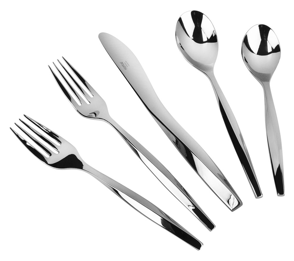 Nambe Twist Stainless Steel Flatware Set 5 Pc Place